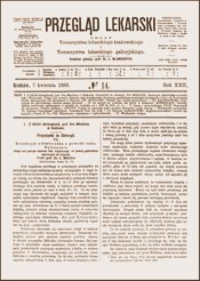 Resekcyja odźwiernika z powodu raka: wyleczenie: uwagi nad pewnym objawem raka żołądka, za pomocą gastroskopu spostrzegać się dającym. Przegląd Lekarski, 1883, R. 22, nr 14, s. 169-171