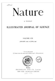 Nature : a Weekly Illustrated Journal of Science. Volume 109, 1922 January 26, [No. 2726]