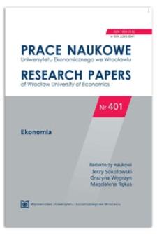 Regionalne zróżnicowanie sektora MŚP. Prace Naukowe Uniwersytetu Ekonomicznego we Wrocławiu = Research Papers of Wrocław University of Economics, 2015, Nr 401, s. 431-439
