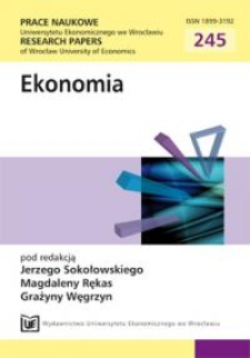 Strefa euro wobec kryzysu finansowego. Prace Naukowe Uniwersytetu Ekonomicznego we Wrocławiu = Research Papers of Wrocław University of Economics, 2012, Nr 245, s. 558-567