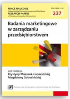 Wykorzystanie badań marketingowych w zarządzaniu siecią handlową – dylemat menedżera. Prace Naukowe Uniwersytetu Ekonomicznego we Wrocławiu = Research Papers of Wrocław University of Economics, 2011, Nr 237, s. 266-272