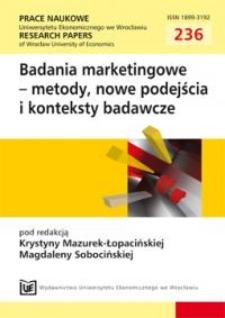 Model tematycznej hurtowni danych na potrzeby badania przebiegu i efektów kampanii e-mailingowych. Prace Naukowe Uniwersytetu Ekonomicznego we Wrocławiu = Research Papers of Wrocław University of Economics, 2011, Nr 236, s. 95-112