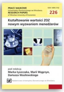 Finansowanie ochrony zdrowia przez gospodarstwa domowe. Prace Naukowe Uniwersytetu Ekonomicznego we Wrocławiu = Research Papers of Wrocław University of Economics, 2011, Nr 226, s. 23-32