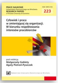 Rola motywacji niematerialnej w kształtowaniu zaangażowania pracowników. Prace Naukowe Uniwersytetu Ekonomicznego we Wrocławiu = Research Papers of Wrocław University of Economics, 2011, Nr 223, s. 154-162