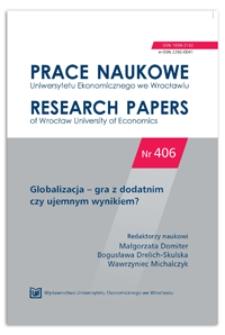 Francja i Afryka: nowa era współpracy gospodarczej. Prace Naukowe Uniwersytetu Ekonomicznego we Wrocławiu = Research Papers of Wrocław University of Economics, 2015, Nr 406, s. 153-164