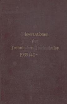 Dissertationen der Technischen Hochschulen 1939/40-
