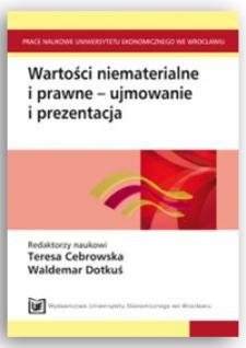 Problemy wyceny własności intelektualnej jako składnika wartości niematerialnych i prawnych. Prace Naukowe Uniwersytetu Ekonomicznego we Wrocławiu, 2011, Nr 190, s. 264-277