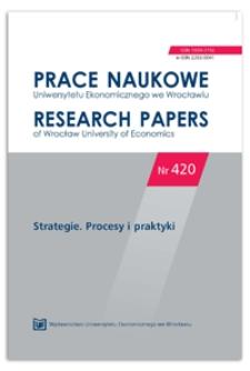 Paradoksy konkurencji relacyjnej. Prace Naukowe Uniwersytetu Ekonomicznego we Wrocławiu = Research Papers of Wrocław University of Economics, 2016, Nr 420, s. 337-349