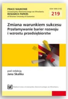 Potencjał dostosowawczy w przełamywaniu barier wzrostu przedsiębiorstw. Prace Naukowe Uniwersytetu Ekonomicznego we Wrocławiu = Research Papers of Wrocław University of Economics, 2011, Nr 219, s. 18-28
