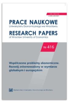 Ważkość kapitału społecznego w kształtowaniu spójności społecznej. Prace Naukowe Uniwersytetu Ekonomicznego we Wrocławiu = Research Papers of Wrocław University of Economics, 2016, Nr 416, s. 17-25