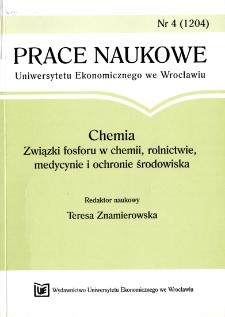 Prace Naukowe Uniwersytetu Ekonomicznego we Wrocławiu, 2008, Nr 4