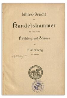Jahresbericht der Handelskammer für die Kreise Hirschberg und Schönau in Hirschberg in Schlesien über das Jahr 1905