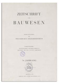 Zeitschrift für Bauwesen, Jr. 78, 1928, H. 5