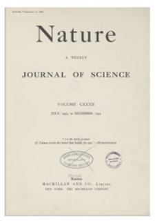 Nature : a Weekly Journal of Science. Volume 132, 1933 December 30, No. 3348