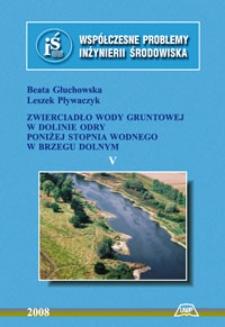 Zwierciadło wody gruntowej w dolinie Odry poniżej stopnia wodnego w Brzegu Dolnym
