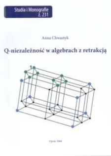 Q-niezależność w algebrach z retrakcją