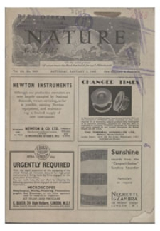 Nature : a Weekly Journal of Science. Volume 151, 1943 June 12, No. 3841