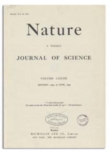 Nature : a Weekly Journal of Science. Volume 133, 1934 May 26, No. 3369