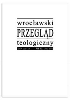 Wrocławski Przegląd Teologiczny. R. 24 (2016), nr 1