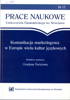 Prace Naukowe Uniwersytetu Ekonomicznego we Wrocławiu, 2008, Nr 17