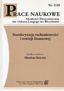 Prace Naukowe Akademii Ekonomicznej im. Oskara Langego we Wrocławiu, 2007, Nr 1158