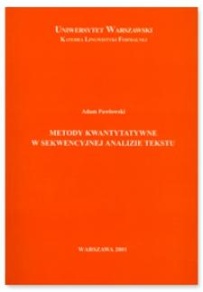 Metody kwantytatywne w sekwencyjnej analizie tekstu