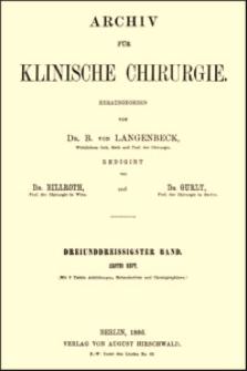 Zur Prioritätsfrage der osteoplastischen Resektion am Fusse, Archiv für Klinische Chirurgie, 1886, Bd. 33, S. 220-225