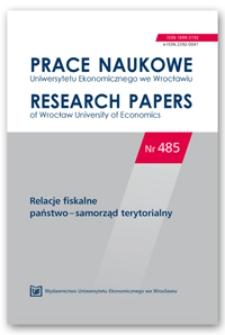 Spis treści [Prace Naukowe Uniwersytetu Ekonomicznego we Wrocławiu = Research Papers of Wrocław University of Economics; 2017; Nr 485]