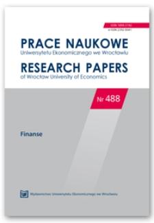 Spis treści [Prace Naukowe Uniwersytetu Ekonomicznego we Wrocławiu = Research Papers of Wrocław University of Economics; 2017; Nr 488]