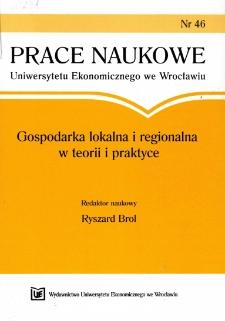 Prace Naukowe Uniwersytetu Ekonomicznego we Wrocławiu, 2009, Nr 46