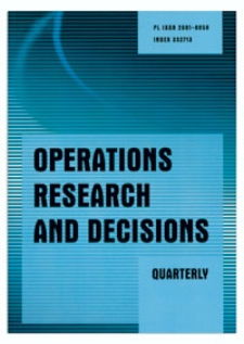 Editorial [Operations Research and Decisions, vol. 26, 2016, nr 2]