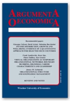 Spis treści [Argumenta Oeconomica, 2008, Nr 1 (20)]