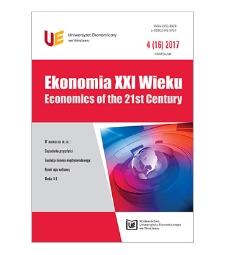 Spis treści [Ekonomia XXI Wieku = Economics of the 21st Century, 2017, Nr 4 (16)]