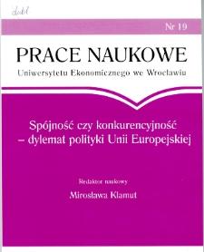 Prace Naukowe Uniwersytetu Ekonomicznego we Wrocławiu, 2008, Nr 19