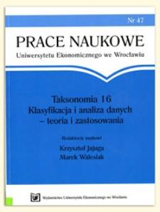 Prace Naukowe Uniwersytetu Ekonomicznego we Wrocławiu, 2009, Nr 47
