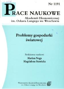 Prace Naukowe Akademii Ekonomicznej im. Oskara Langego we Wrocławiu, 2008, Nr 1191