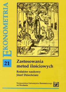 Prace Naukowe Uniwersytetu Ekonomicznego we Wrocławiu, 2008, Nr 6