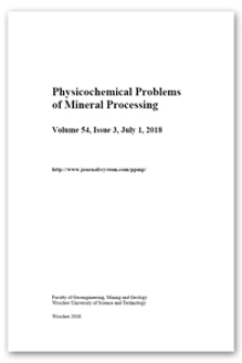 Content [Physicochemical Problems of Mineral Processing. Vol. 54, 2018, Issue 3]