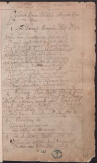 Miscellanea, zawierające wiadomości o Polsce i innych krajach oraz odpisy materiałów dotyczących przeważnie spraw politycznych Polski okresu panowania Zygmunta III i Władysława IV