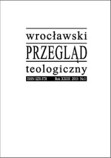 Wrocławski Przegląd Teologiczny. R. 25 (2017), nr 1