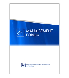 Spis treści [Management Forum, 2018, vol. 6, no. 3]
