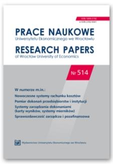 Spis treści [Prace Naukowe Uniwersytetu Ekonomicznego we Wrocławiu = Research Papers of Wrocław University of Economics; 2018; Nr 514]