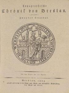 Topographische Chronik von Breslau. Zweites Quartal