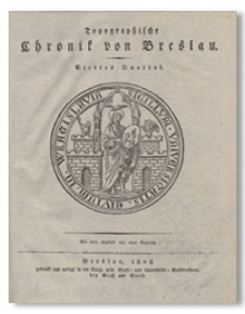 Topographische Chronik von Breslau. Viertes Quartal