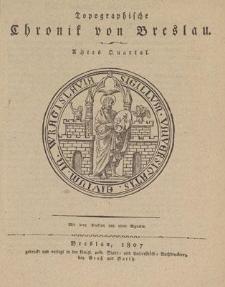 Topographische Chronik von Breslau. Achtes Quartal