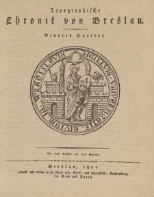 Topographische Chronik von Breslau. Neuntes Quartal