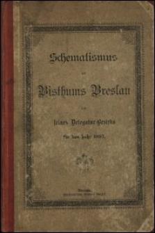 Schematismus des Bisthums Breslau und seines Delegatur-Bezirks für das Jahr 1895