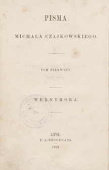 Wernyhora, wieszcz ukraiński : powieść historyczna z roku 1768. - Wyd. 3, przejrz. i popr.