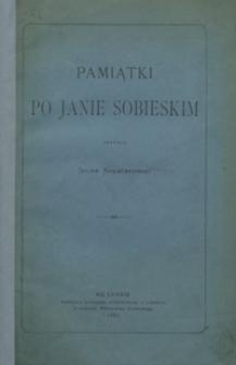 Pamiątki po Janie Sobieskim
