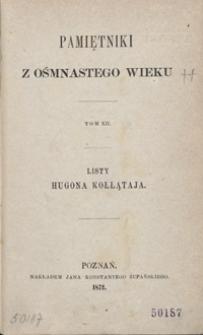 Listy Hugona Kołłątaja pisane z emigracyi w r. 1792, 1793 i 1794 : dwa tomy w jednym